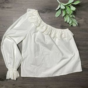 JOIE | sz Small Arianthe white one sleeve blouse